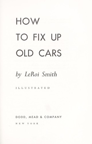 How to fix up old cars.