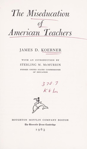 Download The miseducation of American teachers