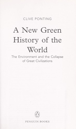 Download A new green history of the world