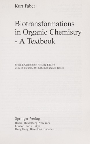 Download Biotransformations in organic chemistry