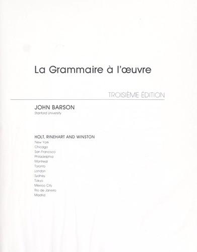 Download La grammaire a l'oeuvre