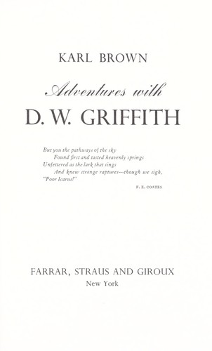 Adventures with D. W. Griffith.