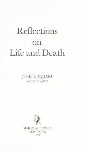 Download Reflections on life and death
