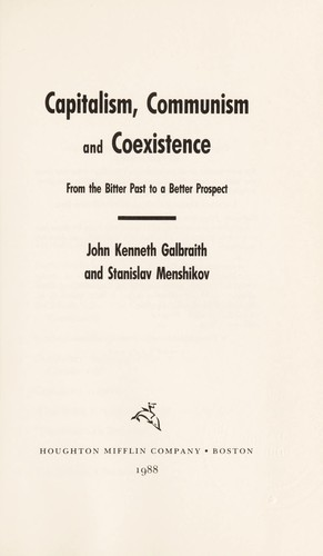 Capitalism, communism, and coexistence