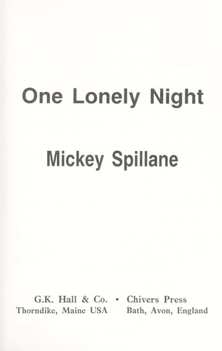 Download One lonely night