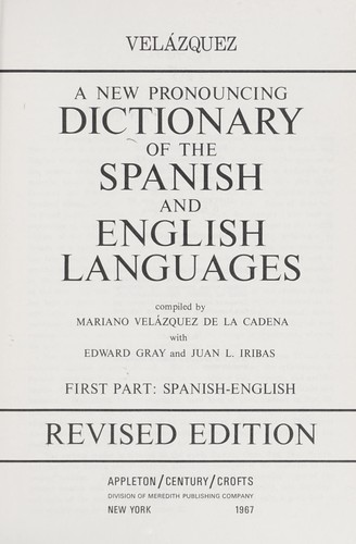 Download A new pronouncing dictionary of the Spanish and English languages