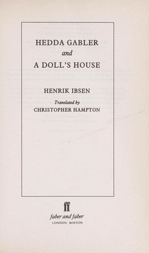Download Hedda Gabler ; and, A doll's house