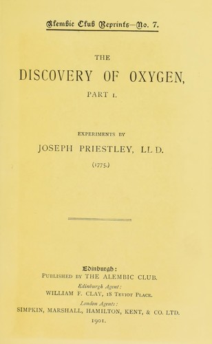 The discovery of oxygen, part 1.