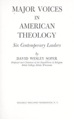 Download Major voices in American theology.