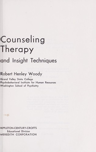 Psychobehavioral counseling and therapy