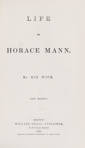 Download Life of Horace Mann.
