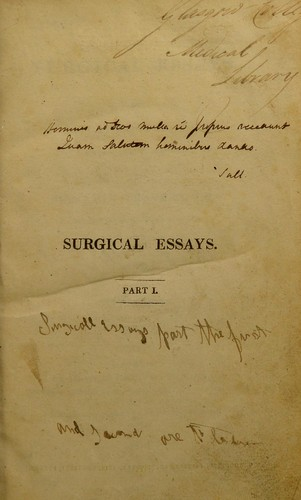 Surgical essays