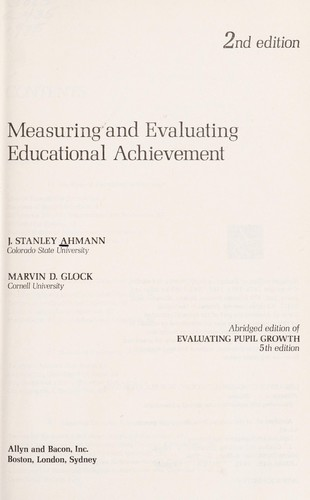 Measuring and evaluating educational achievement