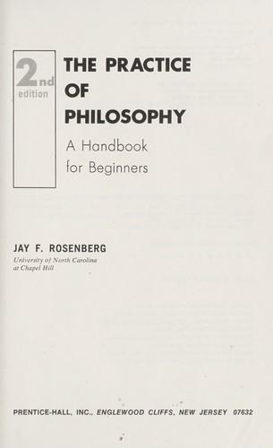 Download The practice of philosophy