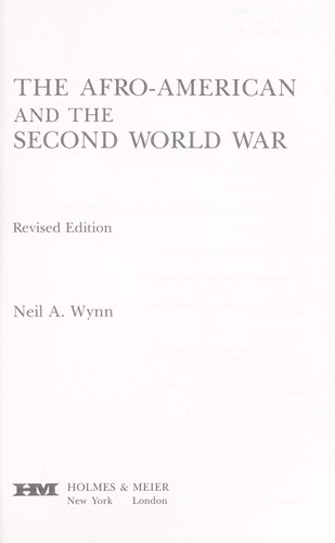 The Afro-American and the Second World War