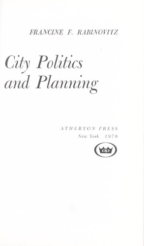 Download City politics and planning