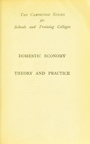 Domestic economy in theory and practice