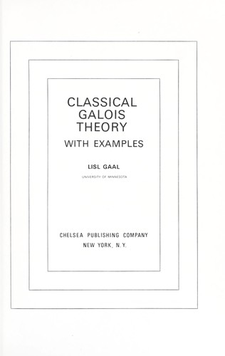Classical Galois theory