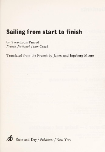 Sailing from start to finish.