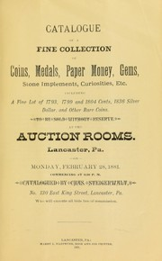 Catalog of a fine collection of coins, medals, paper money, gems ...