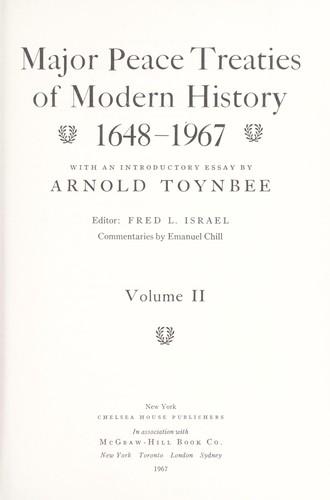 Download Major peace treaties of modern history, 1648-1967.