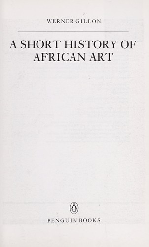 Download A short history of African art