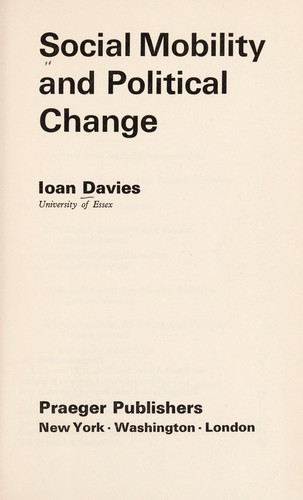 Download Social mobility and political change.