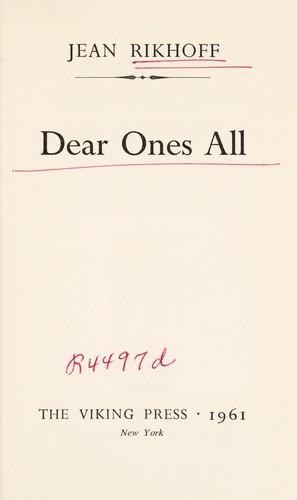 Dear ones all.