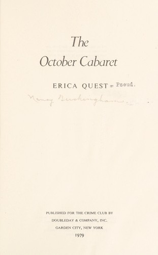 The October cabaret