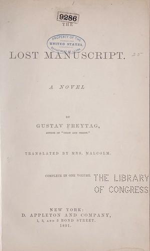 The lost manuscript.