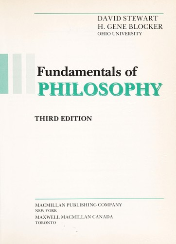 Download Fundamentals of philosophy
