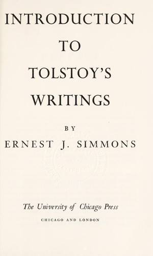 Introduction to Tolstoy's writings