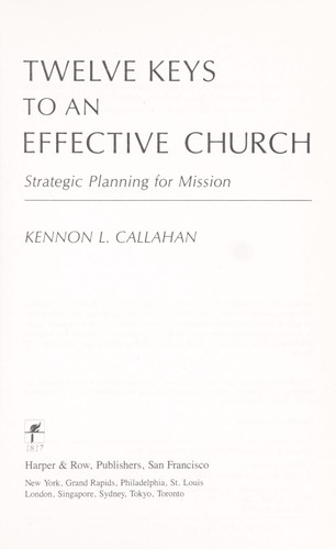 Download Twelve keys to an effective church