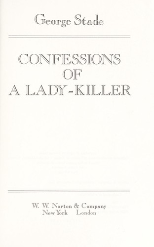 Confessions of a lady-killer