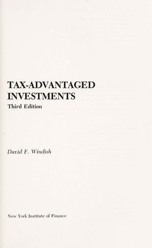 Download Tax-advantaged investments