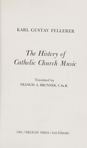 Download The history of Catholic Church music.