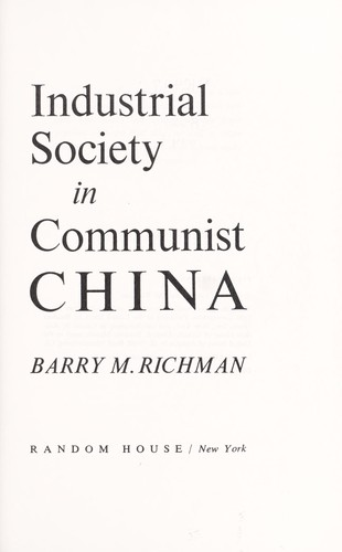 Industrial society in Communist China