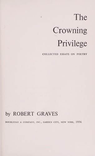The crowning privilege