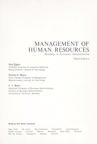 Download Management of human resources