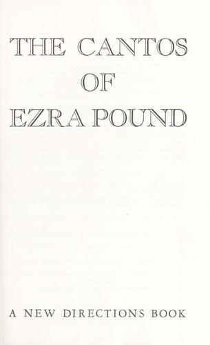 The cantos of Ezra Pound.
