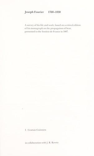 Download Joseph Fourier, 1768-1830