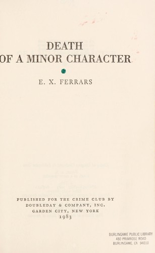 Download Death of a minor character