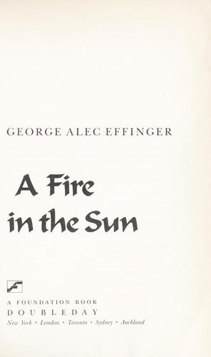 Un fuego en el sol