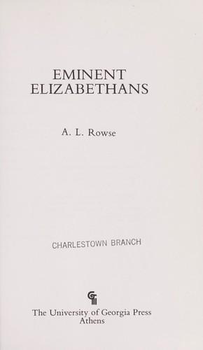Download Eminent Elizabethans