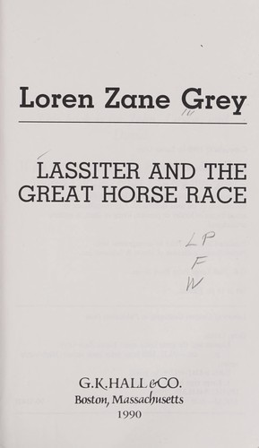 Lassiter and the great horse race