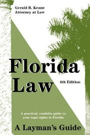 Cover of: Florida law by Gerald B. Keane