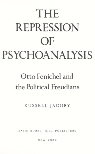 Download The repression of psychoanalysis
