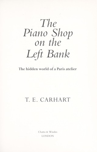 Download The piano shop on the Left Bank