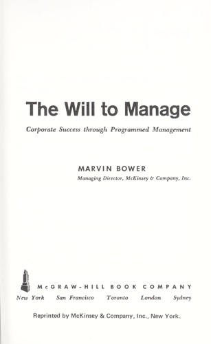 The will to manage.