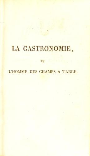 Download La gastronomie